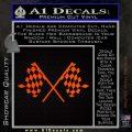 Checker Flag Decal Sticker Orange Emblem 120x120