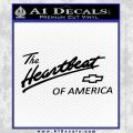 Chevy Heartbeat Of America Decal Sticker Black Vinyl 120x120