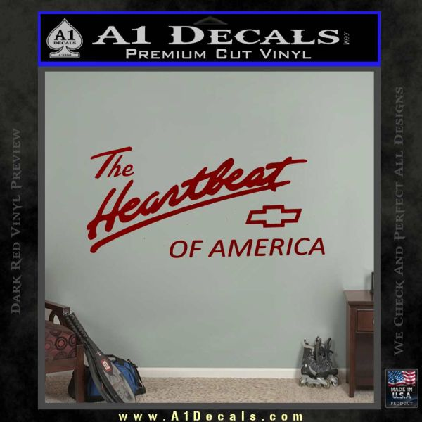 Chevy Heartbeat Of America Decal Sticker DRD Vinyl