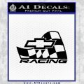 Chevy Race Flag Decal Sticker V1 Black Vinyl 120x120
