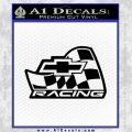 Chevy Race Flag Decal Sticker V2 Black Vinyl 120x120