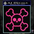 Chibi Skull And Crossbones Decal Sticker Pink Hot Vinyl 120x120
