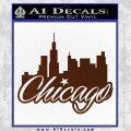 Chicago City Decal Sticker BROWN Vinyl 120x120