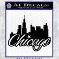 Chicago City Decal Sticker Black Vinyl 120x120