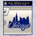 Chicago City Decal Sticker Blue Vinyl 120x120