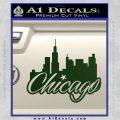 Chicago City Decal Sticker Dark Green Vinyl 120x120