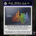 Chicago City Decal Sticker Glitter Sparkle 120x120