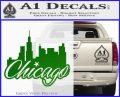 Chicago City Decal Sticker Green Vinyl Logo 120x97