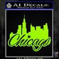 Chicago City Decal Sticker Lime Green Vinyl 120x120