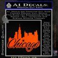 Chicago City Decal Sticker Orange Emblem 120x120