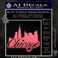 Chicago City Decal Sticker Pink Emblem 120x120