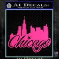 Chicago City Decal Sticker Pink Hot Vinyl 120x120