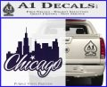 Chicago City Decal Sticker PurpleEmblem Logo 120x97