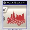 Chicago City Decal Sticker Red 120x120