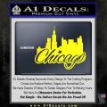 Chicago City Decal Sticker Yellow Laptop 120x120
