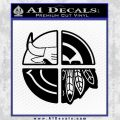 Chicago Pro Sports Decal Sticker Bulls Cubs Bears Black Vinyl 120x120