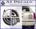 Chicago Pro Sports Decal Sticker Bulls Cubs Bears Carbon FIber Black Vinyl 120x97