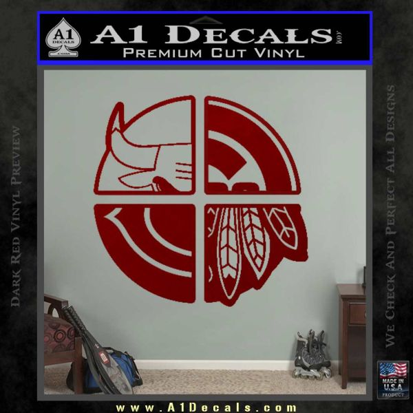 Chicago Pro Sports Decal Sticker Bulls Cubs Bears DRD Vinyl