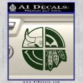 Chicago Pro Sports Decal Sticker Bulls Cubs Bears Dark Green Vinyl 120x120