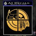 Chicago Pro Sports Decal Sticker Bulls Cubs Bears Gold Vinyl 120x120