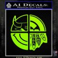 Chicago Pro Sports Decal Sticker Bulls Cubs Bears Lime Green Vinyl 120x120