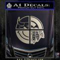 Chicago Pro Sports Decal Sticker Bulls Cubs Bears Metallic Silver Emblem 120x120
