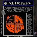 Chicago Pro Sports Decal Sticker Bulls Cubs Bears Orange Emblem 120x120