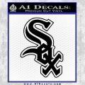 Chicago White Sox Decal Sticker Black Vinyl 120x120