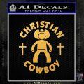 Christian Cowboy Decal Sticker Gold Vinyl 120x120