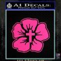 Christian Hibiscus Decal Sticker Pink Hot Vinyl 120x120