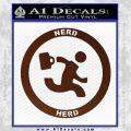 Chuck Tv Nerd Herd CR Decal Sticker BROWN Vinyl 120x120