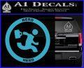 Chuck Tv Nerd Herd CR Decal Sticker Light Blue Vinyl 120x97