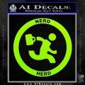 Chuck Tv Nerd Herd CR Decal Sticker Lime Green Vinyl 120x120