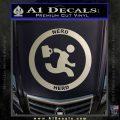Chuck Tv Nerd Herd CR Decal Sticker Metallic Silver Emblem 120x120