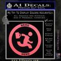Chuck Tv Nerd Herd CR Decal Sticker Pink Emblem 120x120