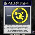 Chuck Tv Nerd Herd CR Decal Sticker Yellow Laptop 120x120
