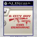 City Boy Can Survive Decal Sticker Red 120x120