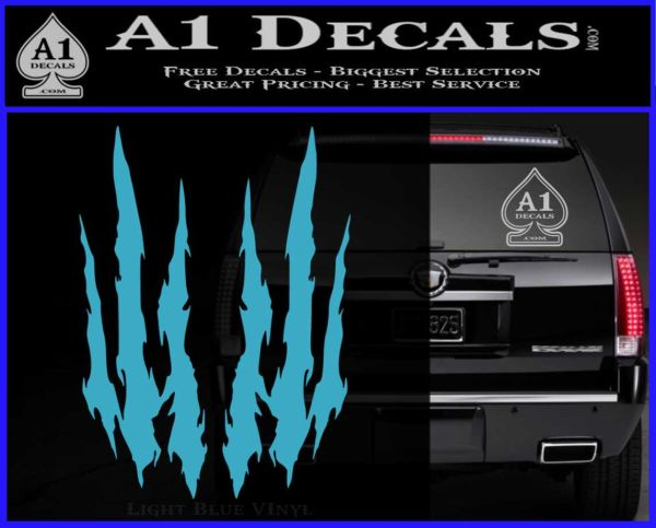 Claw Rip Decal Stickers 187 A1 Decals