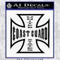 Coast Guard Iron Cross Decal Sticker Black Vinyl 120x120