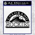 Colorado Rockies Decal Sticker Black Vinyl 120x120