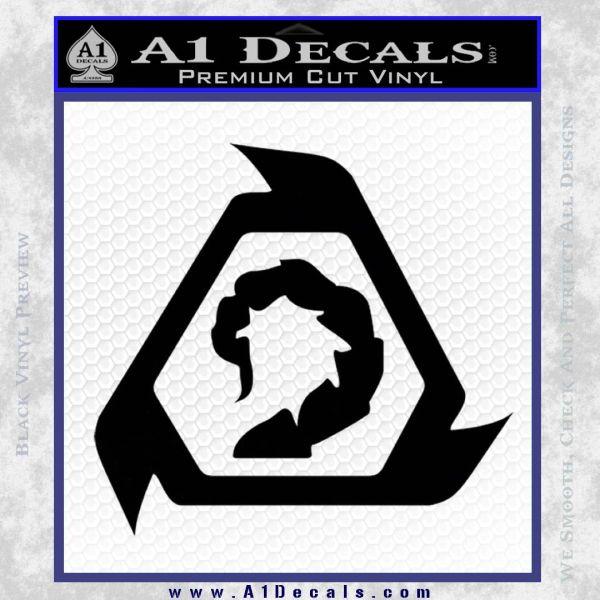Command And Conquer NOD Decal Sticker Black Vinyl