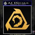 Command And Conquer NOD Decal Sticker Gold Vinyl 120x120