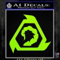 Command And Conquer NOD Decal Sticker Lime Green Vinyl 120x120