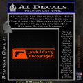 Concealed Lawful Carry Encouraged Decal Sticker Orange Emblem 120x120