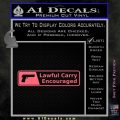 Concealed Lawful Carry Encouraged Decal Sticker Pink Emblem 120x120