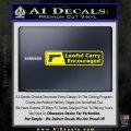 Concealed Lawful Carry Encouraged Decal Sticker Yellow Laptop 120x120