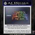 Control Your Children Not Our Guns Decal Sticker DF 4 120x120