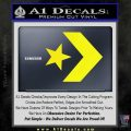 Converse Decal Sticker Arrow Star Yellow Laptop 120x120