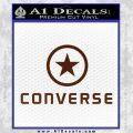 Converse Decal Sticker DF1 BROWN Vinyl 120x120