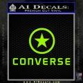 Converse Decal Sticker DF1 Lime Green Vinyl 120x120